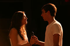 Singing Teens On Stage Stock Photography