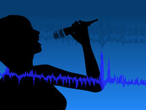 Singing The Blues Royalty Free Stock Photo