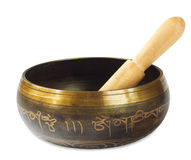 Singing Tibetan bowl Stock Photography