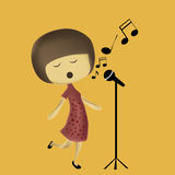 Singing to the world Royalty Free Stock Image