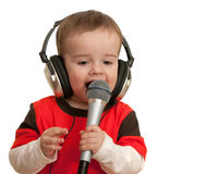 Singing toddler Royalty Free Stock Photography