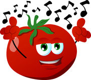 Singing tomato Royalty Free Stock Image