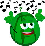 Singing watermelon Royalty Free Stock Images