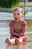 singing wet child Royalty Free Stock Photo