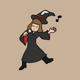 Singing Witch Halloween Royalty Free Stock Photo
