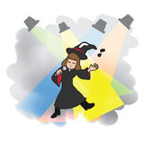 Singing Witch Halloween Stock Images