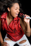 Singing Woman Royalty Free Stock Photography