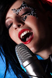 Singing woman Stock Photos