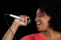 Singing Woman Royalty Free Stock Photos