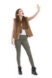 Singing Woman With Arm Raised Royalty Free Stock Images