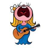 Singing woman Stock Photos
