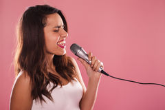 Singing woman. Stock Images