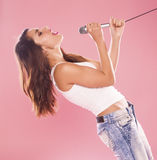 Singing woman. Stock Photography