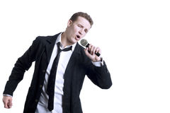 Singing Young Man Stock Images