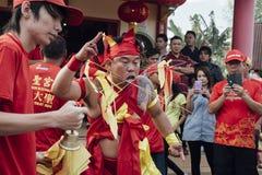 Singkawang Tatung festival arkivbilder