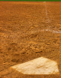 Single. Home plate to first base Royalty Free Stock Image
