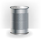 Single aluminum food can Stock Photography