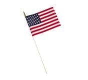 Single American Flag on White Background Royalty Free Stock Photo