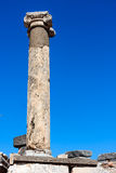 Single ancient column Royalty Free Stock Photos