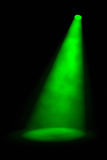 Single Angled Green Spotlight Royalty Free Stock Image