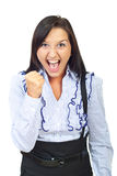 Single angry woman in conflict Royalty Free Stock Photography