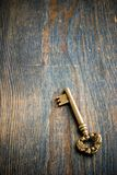 Single Antique Key Stock Photo