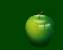 Single apple Stock Photography