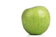 Single apple with copy space Royalty Free Stock Images