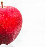 The single apple red color. Royalty Free Stock Image