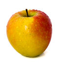Single Apple. Studio shot of an apple isolated on white Royalty Free Stock Image