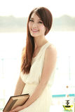 Single asian young woman Stock Photos