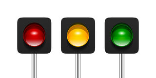 Single Aspect Traffic Lights Royalty Free Stock Images