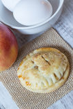 Single Autumn Apple Hand Pie Close Up Royalty Free Stock Photography