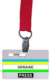 Single badge (vip pass) isolated, plastic texture Stock Photo