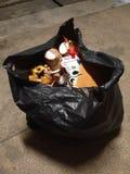 Single bag of trash Royalty Free Stock Photography