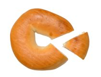 Single bagel Royalty Free Stock Images