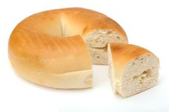 Single bagel Stock Photo