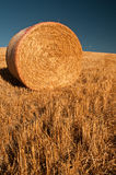 A single bale of hay Royalty Free Stock Photos