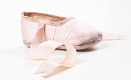 Single balerina shoe Royalty Free Stock Image