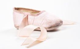 Single balerina shoe royalty free stock image