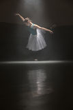 Single ballerina in class room Royalty Free Stock Images