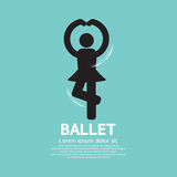Single Ballet Graphic Black Symbol Royalty Free Stock Images