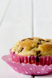 Single Banana Chocolate Chip Muffin Royalty Free Stock Photo