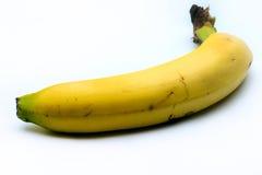 Single banana. Image of a single banana on white stock photos