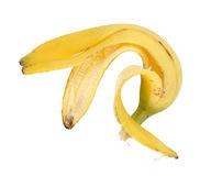 Single banana peel Royalty Free Stock Images