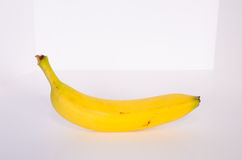Single Banana From the Side Royalty Free Stock Images