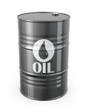 Single barrel of oil. On white background stock illustration