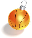 Single basketball christmas ball Royalty Free Stock Photo