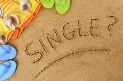 Single beach vacation Stock Photography