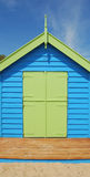 Single Beach house. Colorful beach house with decking Stock Photography
